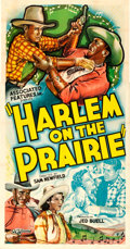 """Movie Posters:Black Films, Harlem on the Prairie (Associated Features, 1937). Three Sheet(41.5"""" X 79"""").. ..."""
