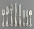 Silver Flatware, American:Wallace , A One Hundred and Forty-Four-Piece Wallace Grande Baroque Pattern Silver Flatware Service, Wallingford, Connecti... (Total: 146 Items)