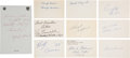 Football Collectibles:Others, 1960's-1980's Football Stars Signed Index Cards Lot of 87....