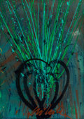 , Dale Chihuly (American, born 1941). Untitled. Acrylic onpaper. 41-1/4 x 29-1/2 inches (104.8 x 74.9 cm). Signed lower c...