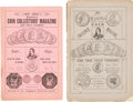 Books, Mason & Co. Mason's Monthly Illustrated Coin Collector'sMagazine and Coin Price Current. Vol. I, Nos. 1-4 and6-12 ...