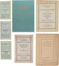 Books, [U.S. Numismatic Sale Catalogues]. Early 20th-Century U.S. Numismatic Sale Catalogues. Includes: the United States Coin Comp...