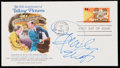 Autographs:Letters, 1977 Oprah Winfrey Signed First Day Cover. ...