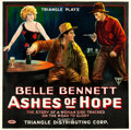 """Movie Posters:Western, Ashes of Hope (Triangle, 1917). Six Sheet (81.5"""" X 81.5"""").. ..."""