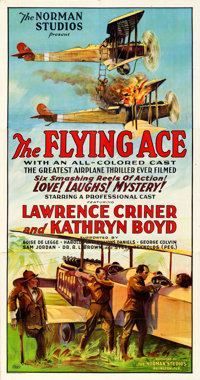 """The Flying Ace (Norman, 1926). Three Sheet (41"""" X 78.25"""")"""