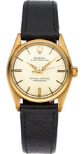 Timepieces:Wristwatch, Rolex Ref. 6548/6551 Mid-Size Gold Oyster Perpetual. ...