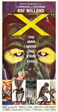 "Movie Posters:Science Fiction, X - The Man with the X-Ray Eyes (American International, 1963).Three Sheet (41"" X 81"") Reynold Brown Artwork.. ..."