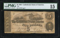 Confederate Notes:1862 Issues, T53 $5 1862 PF-UNL Cr. UNL PMG Choice Fine 15. . ...