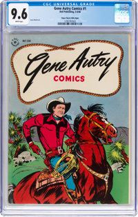 Gene Autry Comics #1 Mile High Pedigree (Dell, 1946) CGC NM+ 9.6 White pages