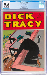 Four Color #163 Dick Tracy - Mile High Pedigree (Dell, 1947) CGC NM+ 9.6 Off-white to white pages