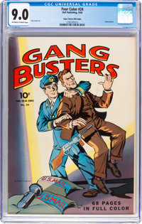 Four Color #24 Gang Busters - Mile High Pedigree (Dell, 1943) CGC VF/NM 9.0 Off-white to white pages