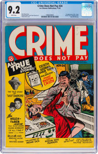 Crime Does Not Pay #24 (Lev Gleason, 1942) CGC NM- 9.2 White pages