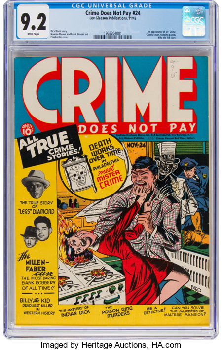Crime Does Not Pay #24 (Lev Gleason, 1942) CGC NM- 9.2 White pages....