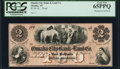 Obsoletes By State:Nebraska, Omaha, NE- Omaha City Bank and Land Co. $2 18_ as G2a PCGS Gem New 65PPQ.. ...