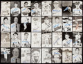 Autographs:Post Cards, St. Louis Cardinals Signed Postcard Lot of 54 with Ernie Lombardi....
