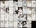 Autographs:Post Cards, New York/San Francisco Giants Signed Postcard Lot of 31....