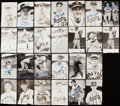 Autographs:Post Cards, Braves Signed Postcard Lot of 26....