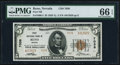 National Bank Notes:Nevada, Reno, NV - $5 1929 Ty. 2 First NB Ch. # 7038 PMG Gem Uncirculated 66 EPQ.. ...