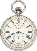 Timepieces:Clocks, Ulysse Nardin Fine Deck Chronometer With Original Boxes, Wind Indicator. ...