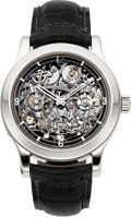 Timepieces:Wristwatch, Jaeger LeCoultre, Very Rare and Fine Skeleton Perpetual Calendar8-day Power Reserve, Platinum Ltd Ed. 05/100, Ref: Q16164SQ,...