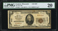 National Bank Notes:Wisconsin, Frederic, WI - $20 1929 Ty. 1 The First NB Ch. # 8491 PMG Very Fine 20.. ...