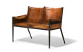Furniture , Jean-Michel Frank (French, 1895-1941). Rare Bench, circa 1939, Comte S.R.L.. Painted iron, leather. 35-3/4 x 46 x 27-1/2...