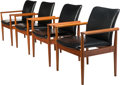 Furniture , Finn Juhl (Danish, 1912-1989). Four Diplomat Chairs, designed 1963, France and Sons. Teak, leather. 31-1/2 x 26-1/2 x 24... (Total: 4 Items)