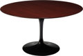 Furniture , Eero Saarinen (Finnish/American, 1910-1961) . Tulip Dining Table, designed 1956, Knoll. Walnut, cast aluminum with Rilsa...
