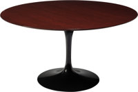 Eero Saarinen (Finnish/American, 1910-1961) Tulip Dining Table, designed 1956, Knoll Walnut, cast a