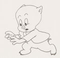 Animation Art:Production Drawing, Porky Pig Production Drawing (Warner Brothers, c. 1960s)....