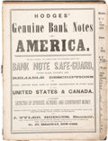 Books, Hodges, J. Tyler. Hodges' Genuine Bank Notes of America. ...
