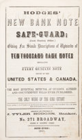 Books, Hodges, J. Tyler. Hodges' New Bank Note Safe-Guard;(Fourth Quarterly Edition.)... ...