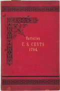 Books, [United States Large Cents] Frossard, Ed. Monograph of UnitedStates Cents and Half Cents...