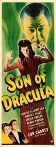 "Movie Posters:Horror, Son of Dracula (Universal, 1943). Insert (14"" X 36"").. ..."