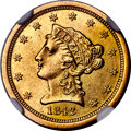 1842-O $2 1/2 -- Cleaned -- NGC Details. Unc. Variety 1....(PCGS# 7726)