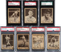 Baseball Cards:Autographs, Signed 1940 Play Ball Baseball Collection (7) - Includes Seven Hall of Famers!...