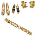 Estate Jewelry:Lots, Enamel, Gold Jewelry . ... (Total: 4 Items)