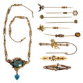 Estate Jewelry:Lots, Multi-Stone, Diamond, Seed Pearl, Freshwater Cultured Pearl, Glass, Gold, Base Metal Jewelry. ... (Total: 11 Items)