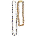 Estate Jewelry:Necklaces, Diamond, Freshwater Cultured Pearl, Lapis Lazuli, Gold Necklaces. ... (Total: 2 Items)