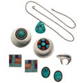 Estate Jewelry:Lots, Multi-Stone, Sterling Silver, Silver Jewelry . ... (Total: 6 Items)