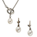 Estate Jewelry:Lots, Freshwater Cultured Pearl, Sterling Silver Jewelry, Tiffany & Co. . ... (Total: 2 Items)