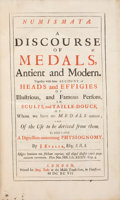 Books, Evelyn, John. Numismata. A Discourse of Medals, Antientand Modern. Together with Some Account of Heads and Effigieso...