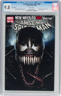 The Amazing Spider-Man #569 Variant Edition (Marvel, 2008) CGC NM/MT 9.8 White pages