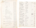 Books, (Johnson, Burdette G.). Inventory of Coins in the Estate of B.G.Johnson. ...