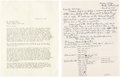 Books, Newman, Eric P. Correspondence with Kenneth Scott. ...
