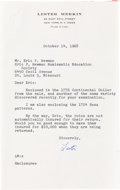 Books, Newman, Eric P. Miscellaneous Correspondence. ... (Total: 10 items)