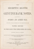 Books, Gwynne and Day, Bankers. The Descriptive Register of GenuineBank Notes,...