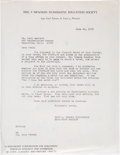 Books, Newman, Eric P. Correspondence with Paul Garland. ...