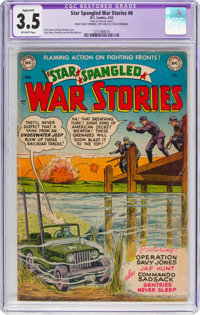 Star Spangled War Stories #6 Trimmed (DC, 1953) CGC Apparent VG- 3.5 Off-white pages