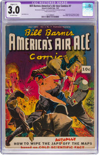 Bill Barnes America's Air Ace Comics #7 (Street & Smith, 1942) CGC Apparent GD/VG 3.0 Slight (C-1) Off-white pages...